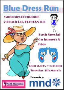 Run 2562 - Blue Dress Run @ Captain Munchies, 1-3 Beach Street, Fremantle